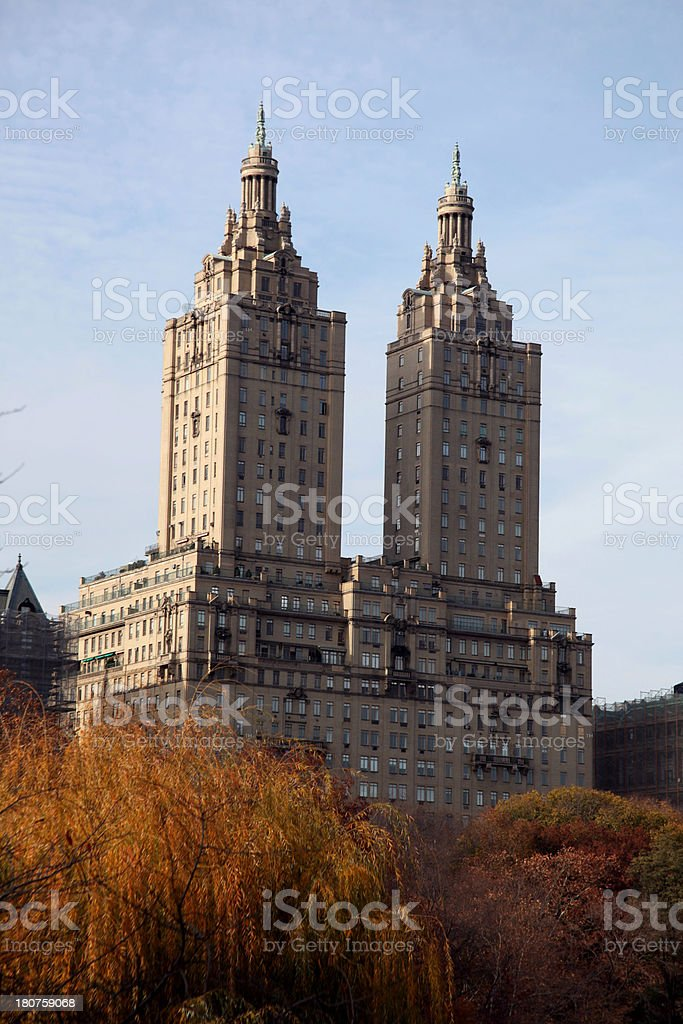 Building in New York Upper West Side royalty-free stock photo