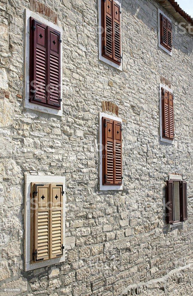 Building in Novigrad, Croatia royalty-free stock photo