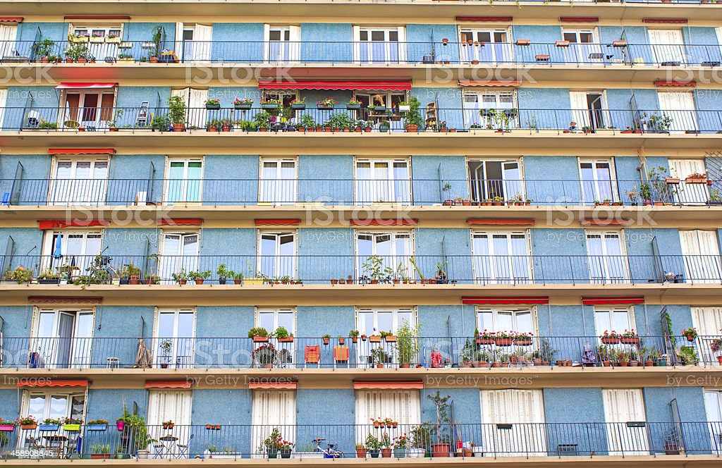 HLM building in Paris stock photo