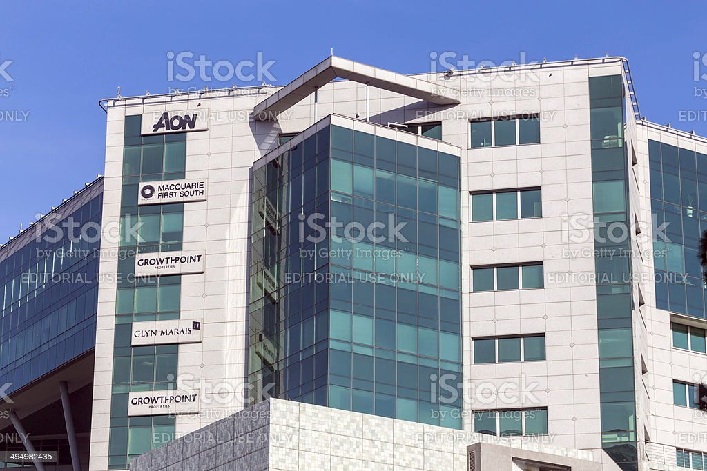 AON building in Sandton stock photo