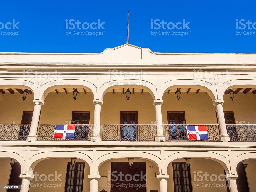 Building in Santo Domingo, Dominican Republic stock photo