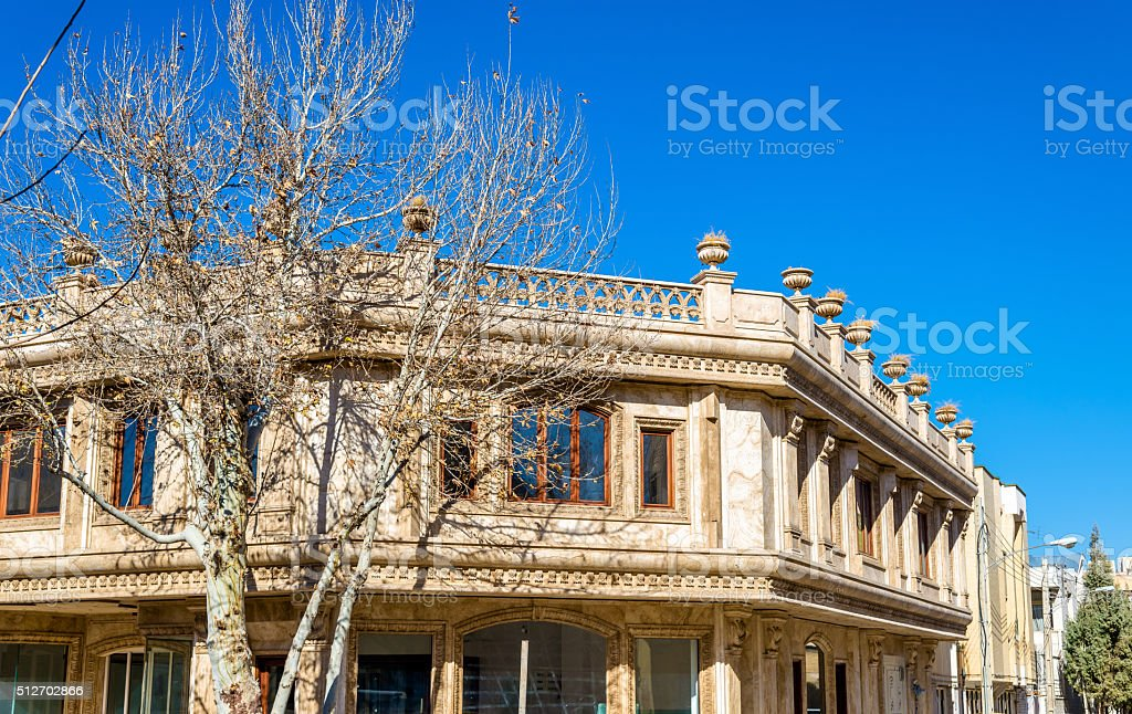 Building in the city centre of Isfahan, Iran stock photo