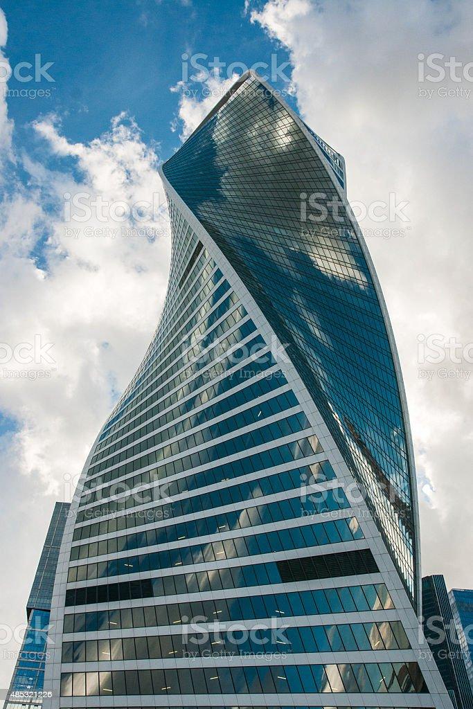 Hôtel dans le centre d'affaires de la ville de Moscou photo libre de droits