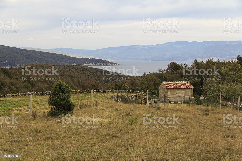Building in the mountains royalty-free stock photo
