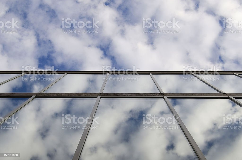 Building in the sky. royalty-free stock photo