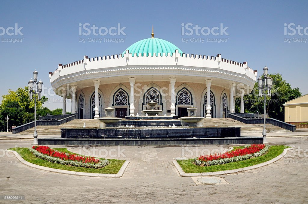 Building in Uzbekistan stock photo
