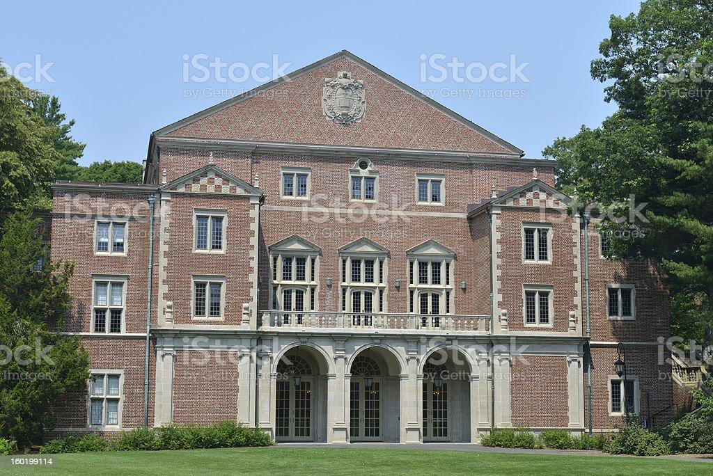 Building in Wellesley College stock photo
