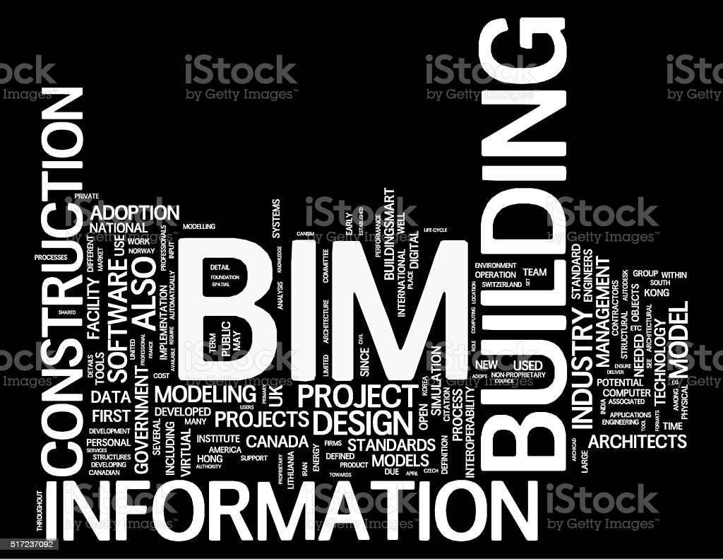Building Information Modeling concepts stock photo