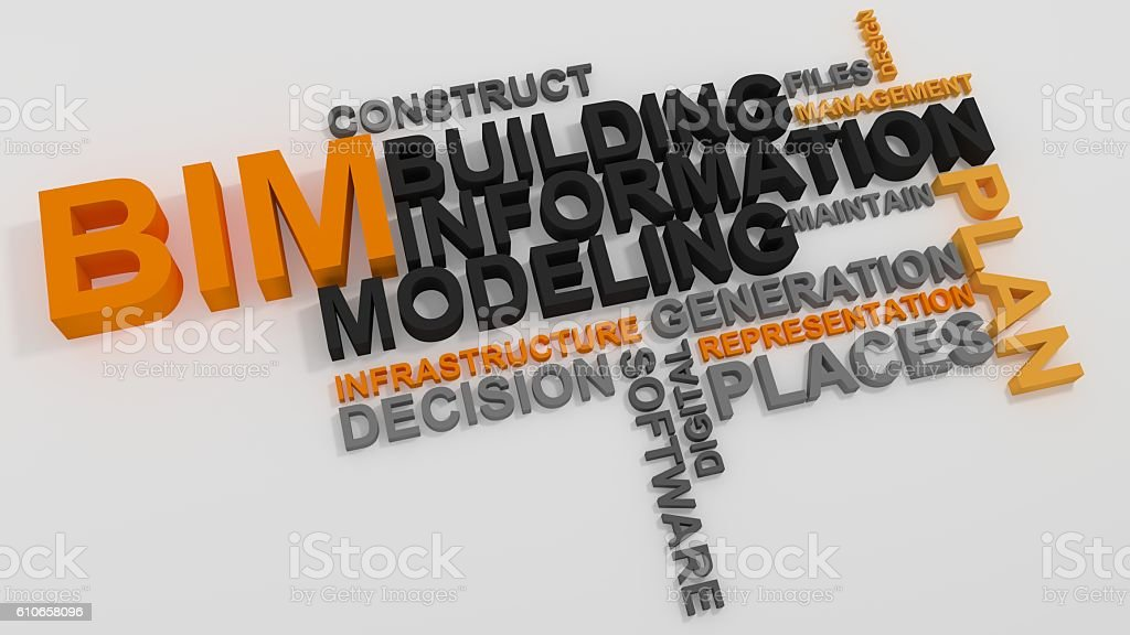 BIM Building Information Modeling stock photo