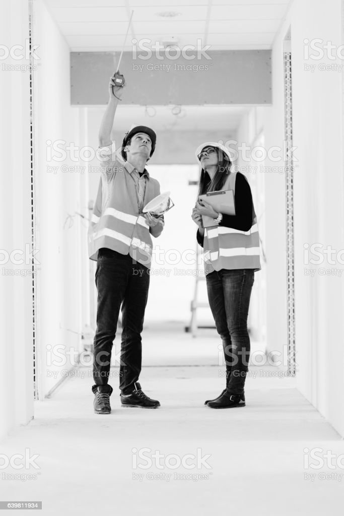 Building inspection stock photo