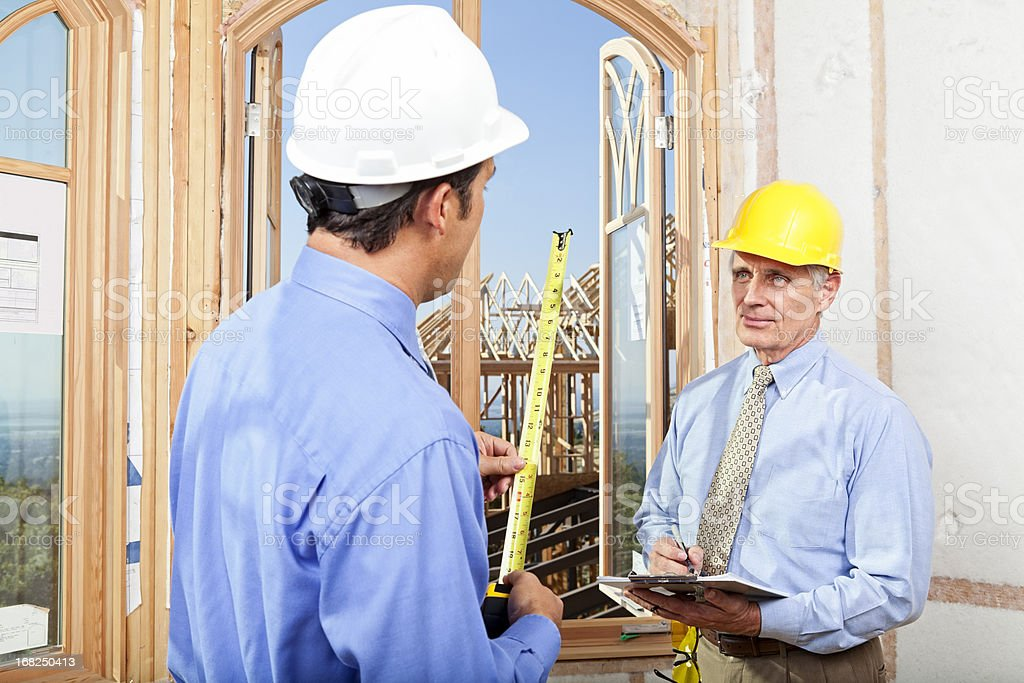 Building Inspector and GC royalty-free stock photo