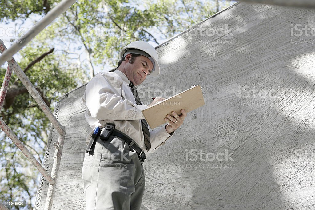 Building Inspector Notes stock photo