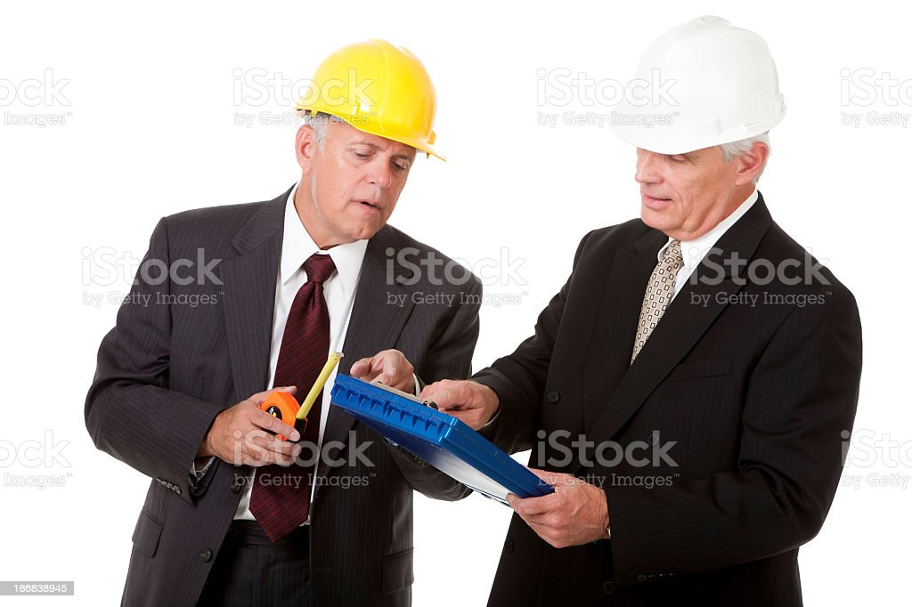 Building Inspectors Consulting royalty-free stock photo
