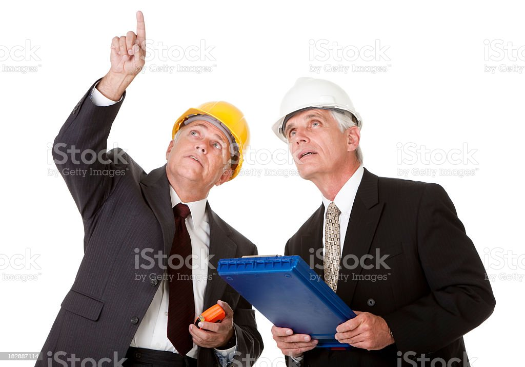 Building Inspectors Examining royalty-free stock photo