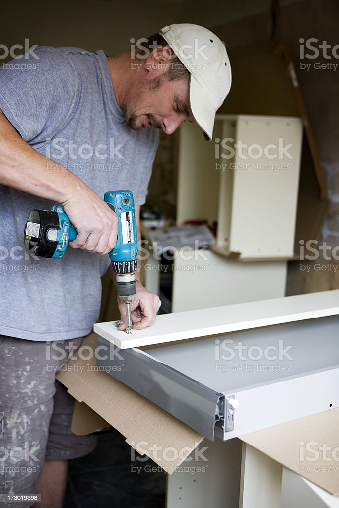 building kitchens royalty-free stock photo