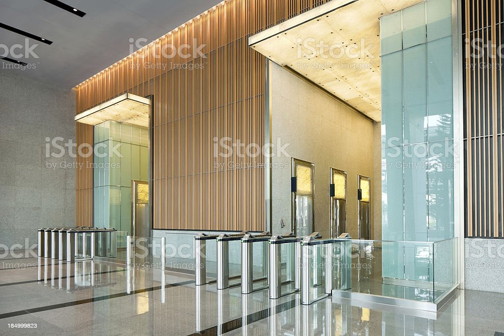 Building Lobby stock photo