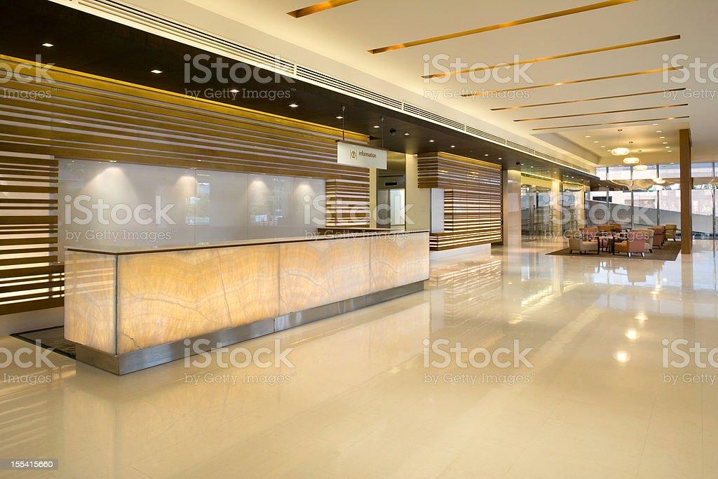 Building Lobby Reception stock photo