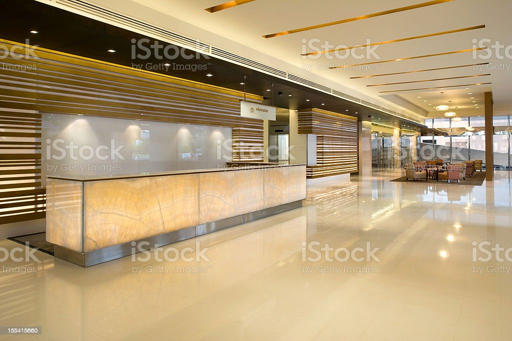 Building Lobby Reception stock photo