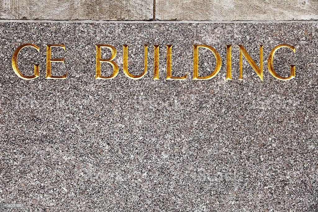 GE Building Manhattan New-York NYC NY royalty-free stock photo