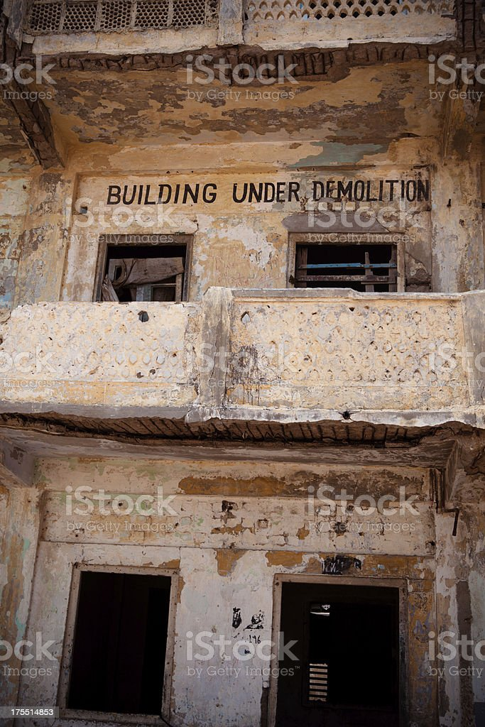 Building Mark for Demolition royalty-free stock photo