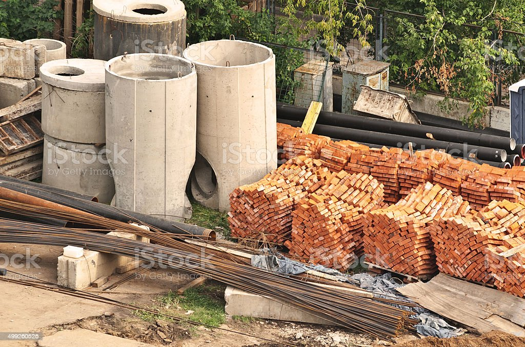 building materials stock photo