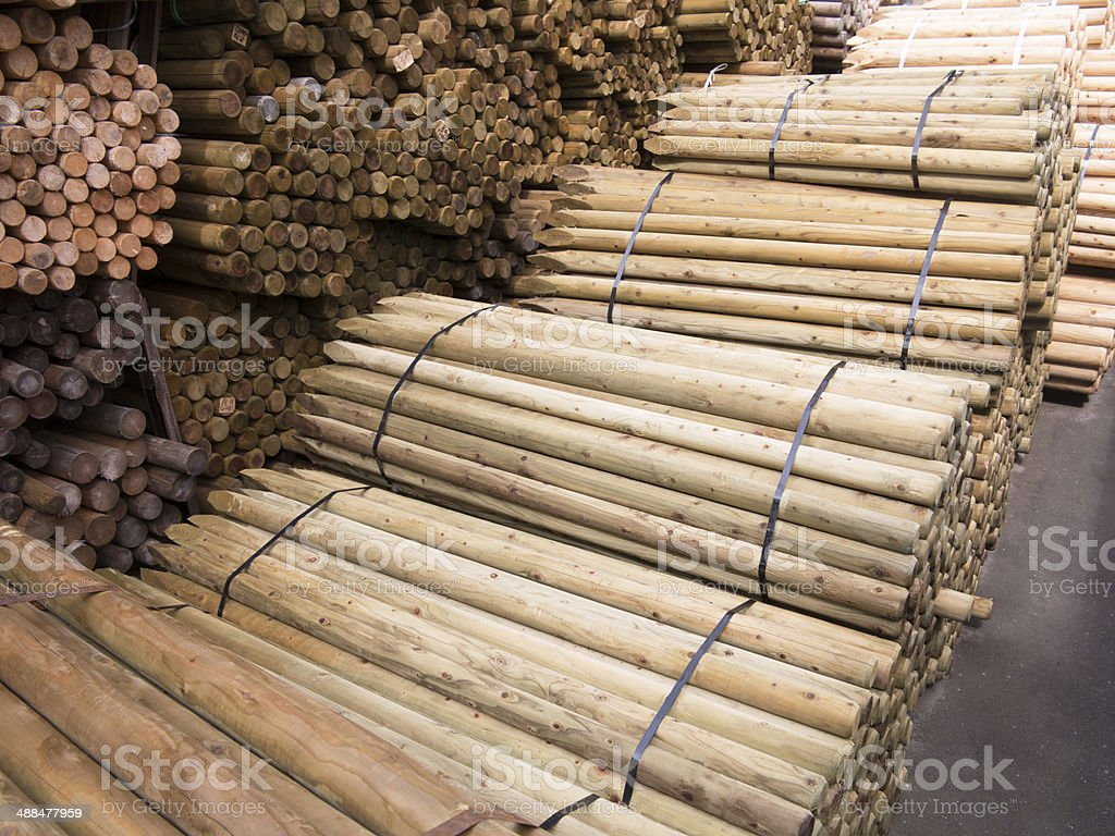 Building materials Storage royalty-free stock photo