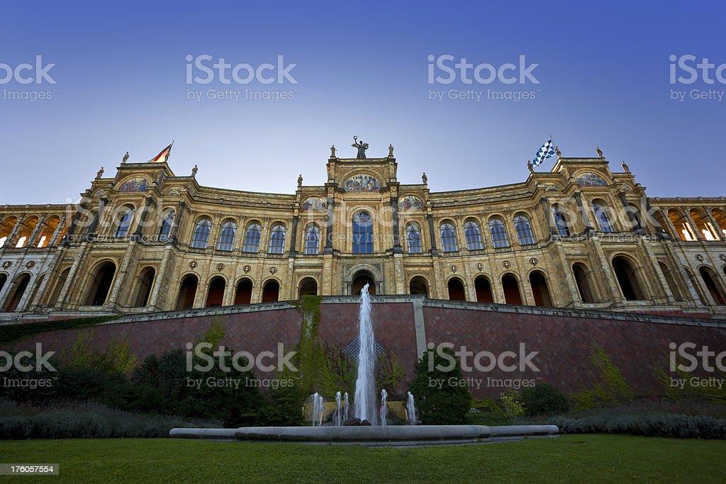 Building Maximilianeum in Munich stock photo