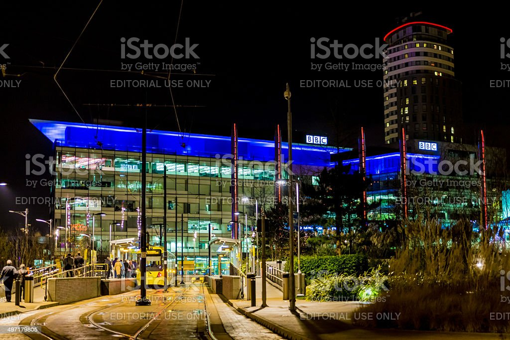 BBC Building - Media City - Salford, Manchester stock photo