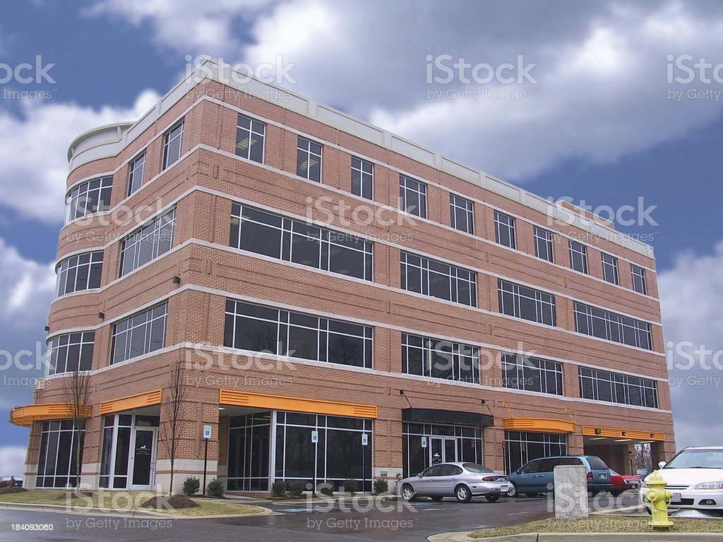 building - medium size office (by request) royalty-free stock photo