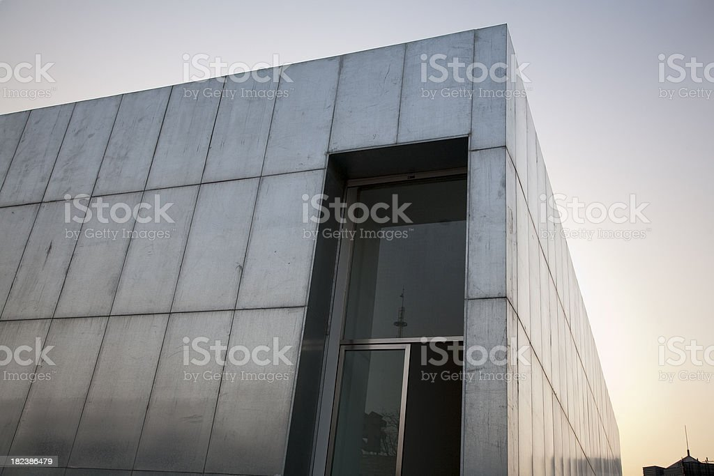building metal stock photo