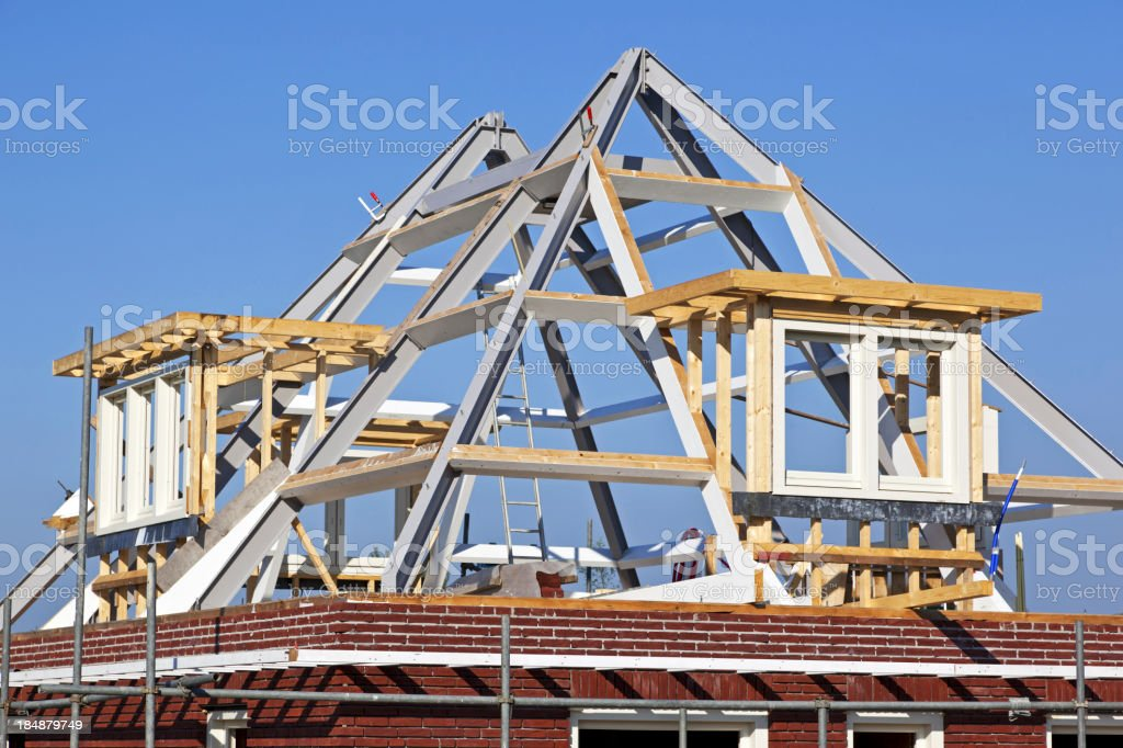 Building new house # 5 XXXL royalty-free stock photo