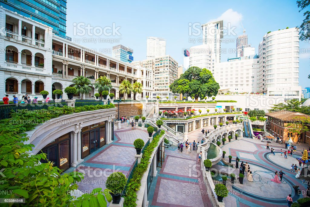 building of 1881 Heritage Located in the Tsim Sha Tsui stock photo