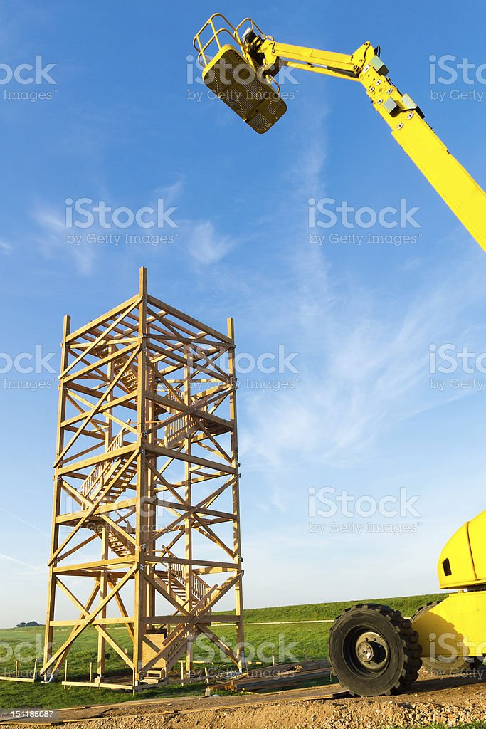 Building of a new observation Tower stock photo