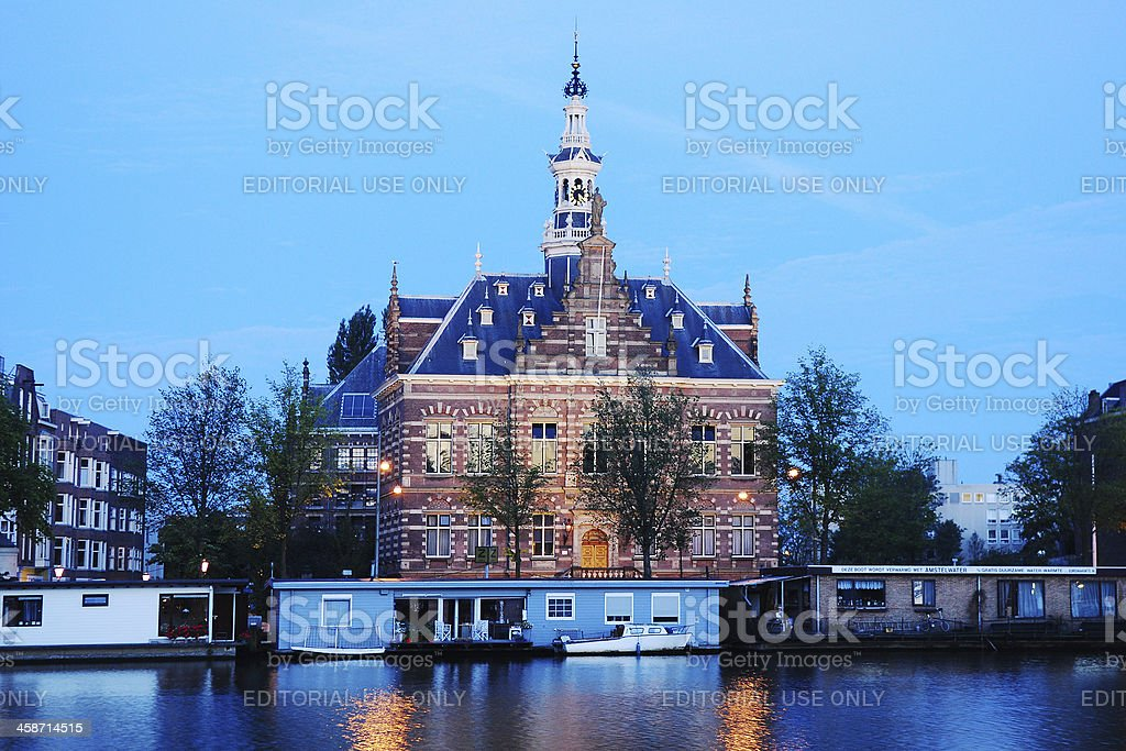 Building of Amsterdam City Archives. stock photo