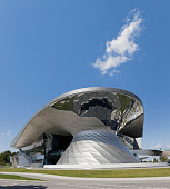 Building of BMW World in Munich Germany