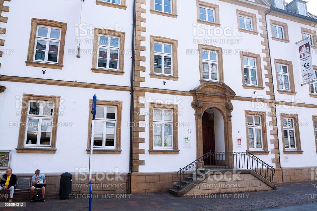 Building of Bonifatiuswerk in Paderborn stock photo