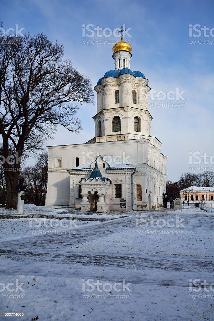 Building of collegium and Boris-Gleb cathedral stock photo