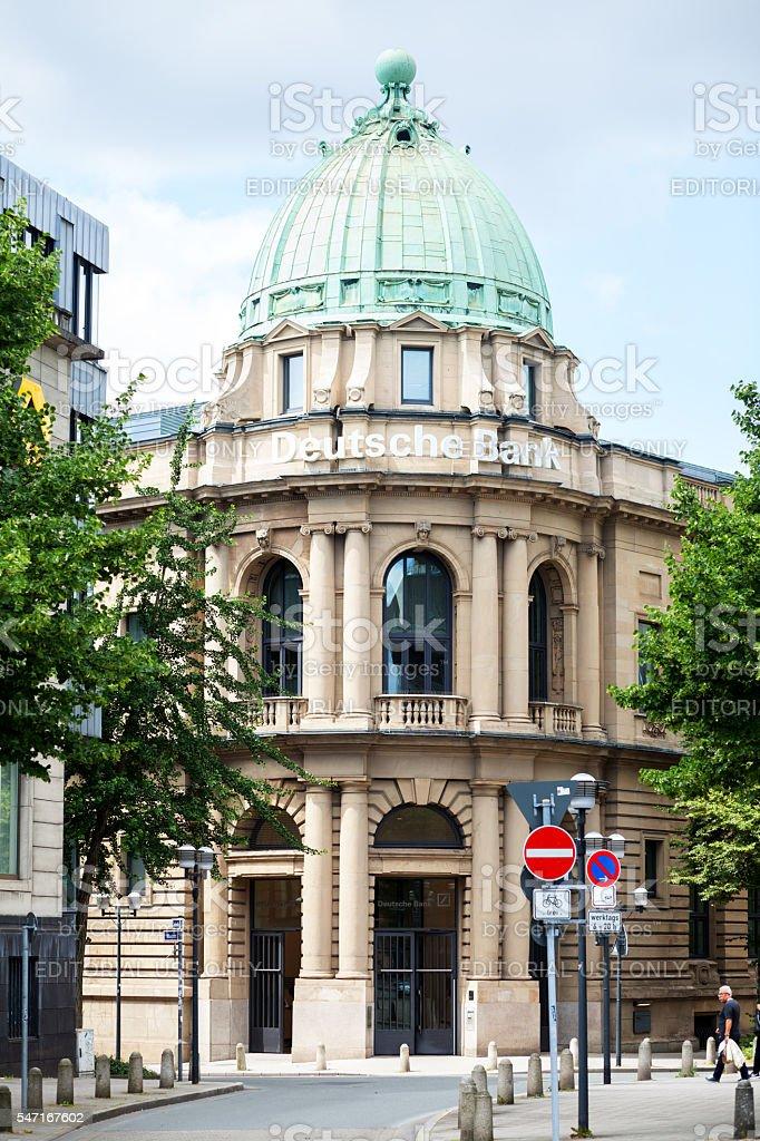 Building of Deutsche Bank in Essen stock photo