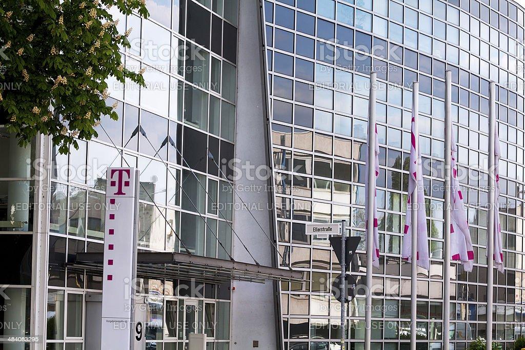 Building of Deutsche Telekom stock photo