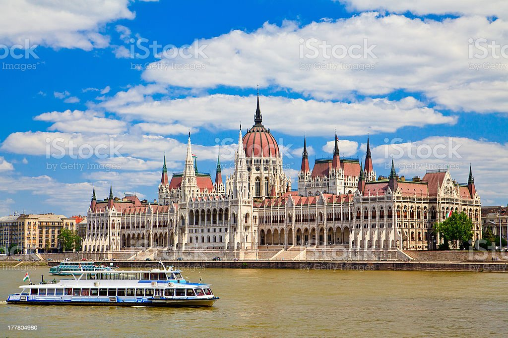 Building Of Hungarian Parliament stock photo