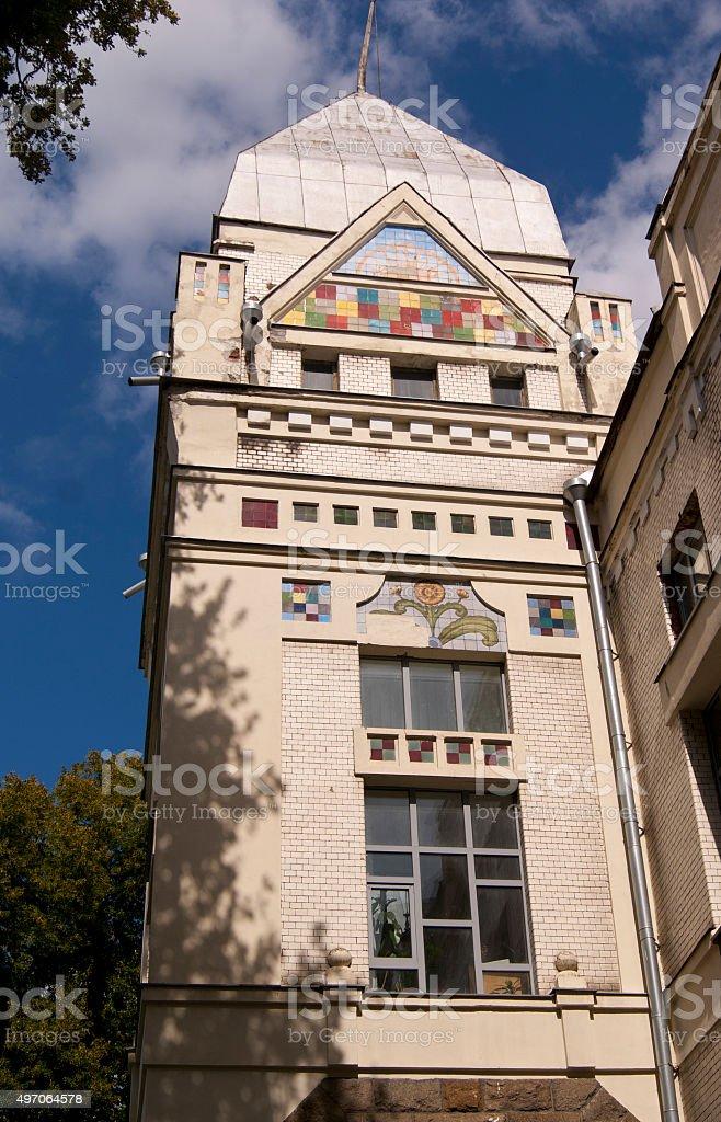 Building of Korolenko library in Chernihiv stock photo