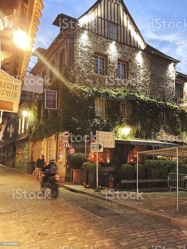 building of Les maisons de Lea in Honfleur, France stock photo