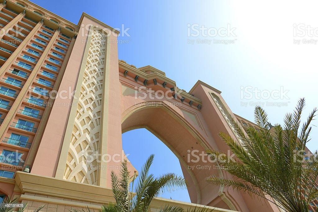 Building of luxury hotel, Dubai, UAE stock photo