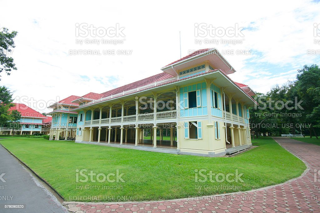 Building of Mrigadayavan Palace stock photo