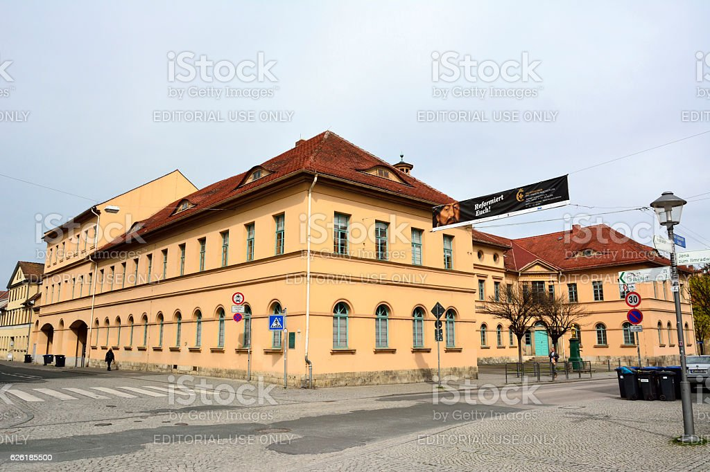Building of music school in Weimar stock photo