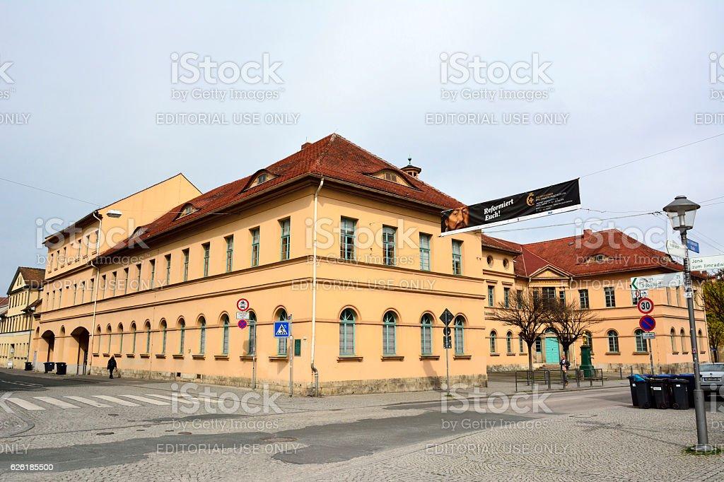Building of music school in Weimar stock photo