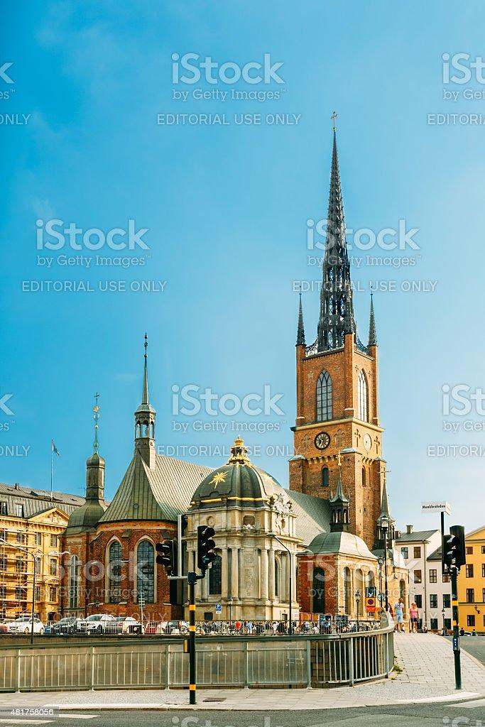 Building Of Riddarholm Kyrka (Riddarholm Church) In Stockholm, S stock photo