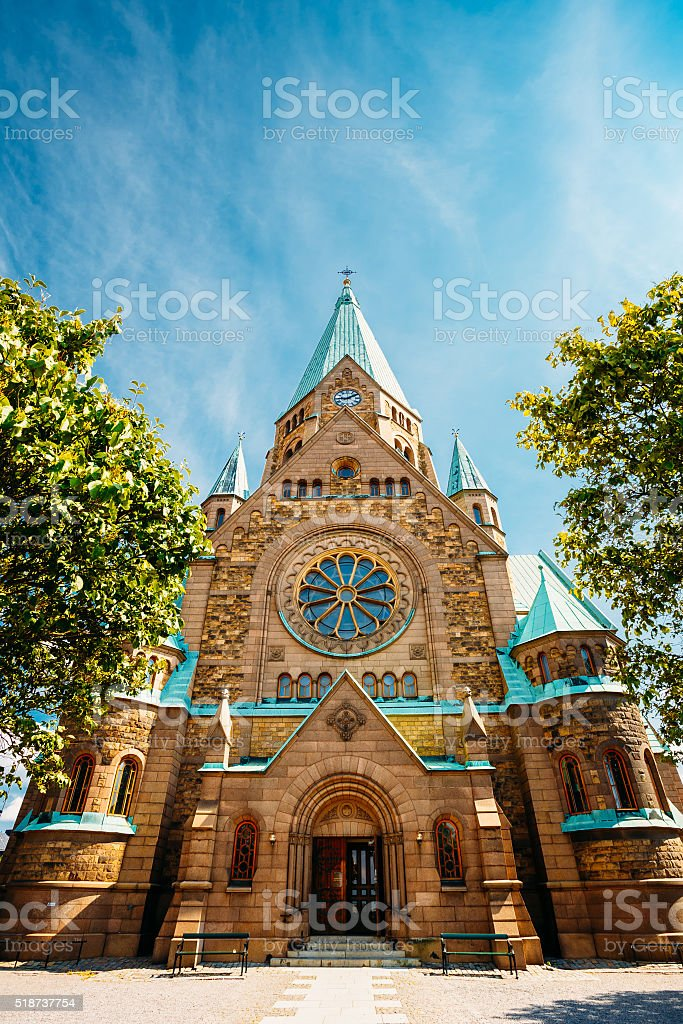 Building Of Sofia Kyrka - Sofia Church In Stockholm, Sweden stock photo