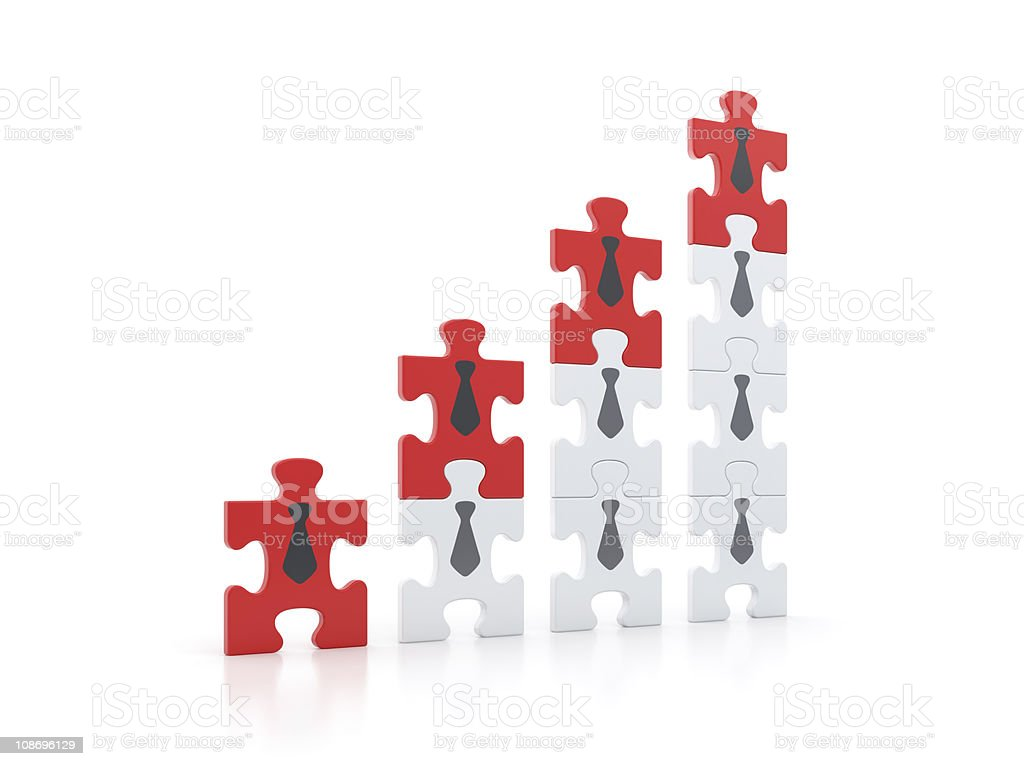 Building of Success Development. Business Promotion Graph Concept Render. stock photo