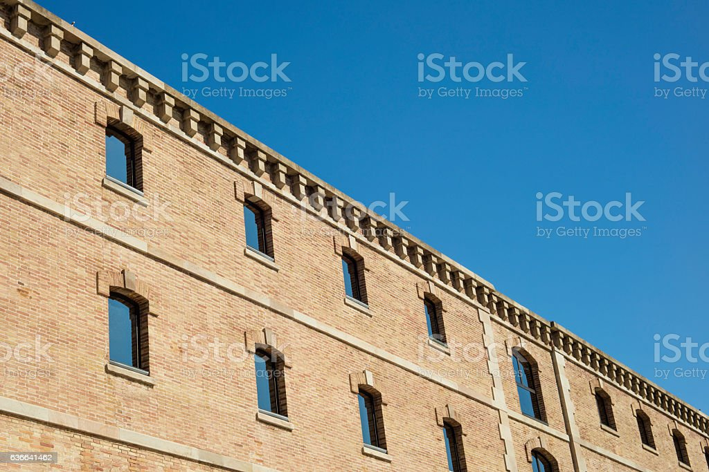 Building of the History Museum of Catalonia in Barcelona stock photo